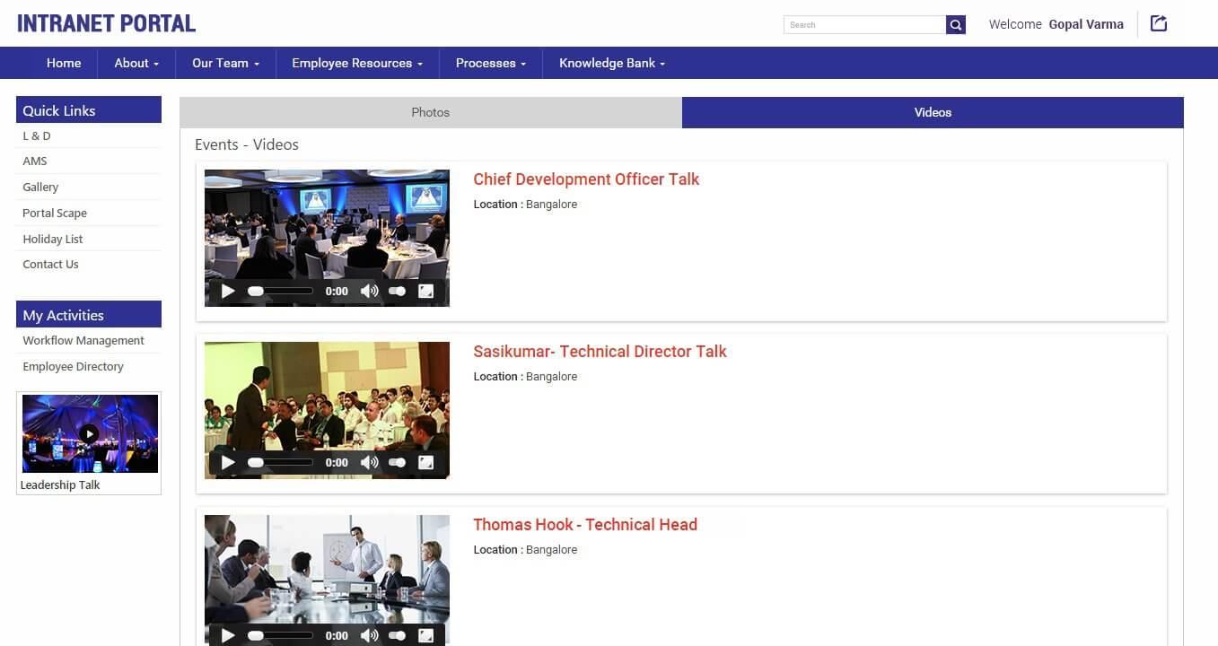 SharePointIntranetPortal-Gallery-Events-Videos