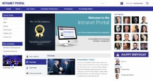 SharePoint Intranet Portal Home Page