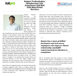 ", Katpro Chosen as CIOReview ""Most Promising SharePoint Providers"""