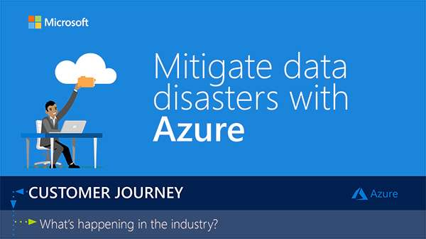 , Mitigate Data Disasters with Azure – Infographic