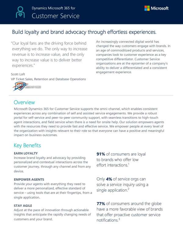 , Customer Service Key Capabilities