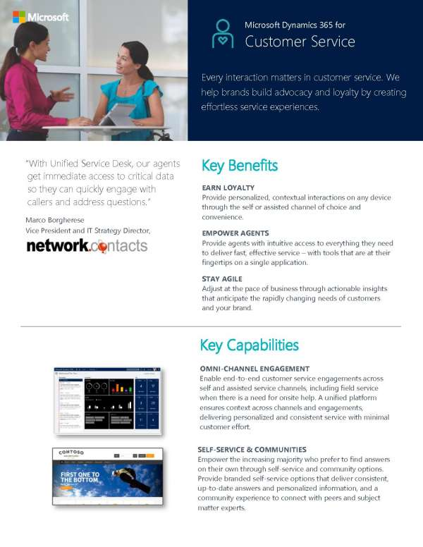 , Microsoft Dynamics for Customer Service