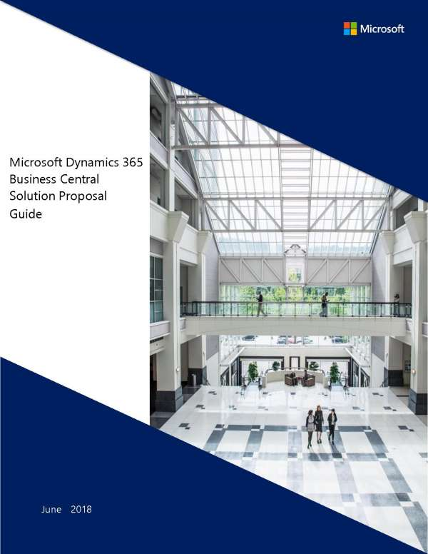 , Microsoft Dynamics 365 Business Central solution proposal guide