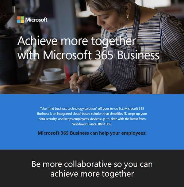 , Achieve More Together With Microsoft 365 Business