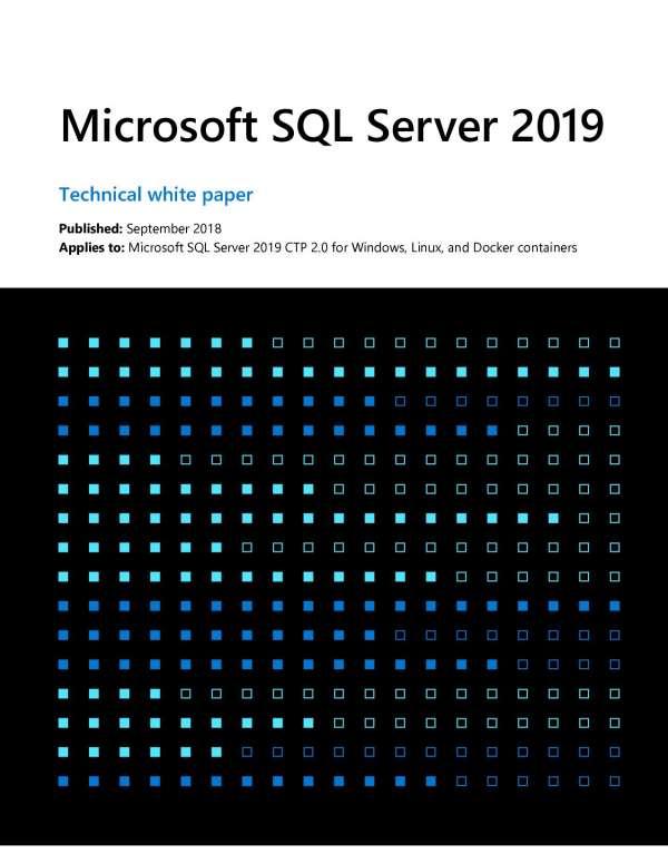 , Microsoft SQL Server 2019